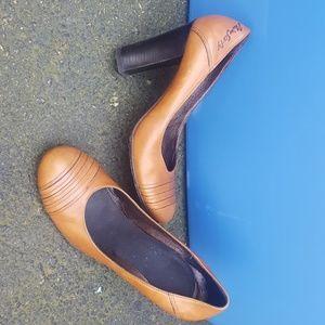Miss Sixty ,Size 38 (8), cognac, 4 inch heels